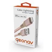 Cabo Lightning Essential de Nylon Trançado Geonav Rose Gold