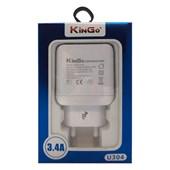 Carregador de Parede Turbo Dual USB U304 Kingo