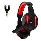 Fone de Ouvido Headset Gamer EG305RD/Thoth Vermelho C/ Fio Evolut